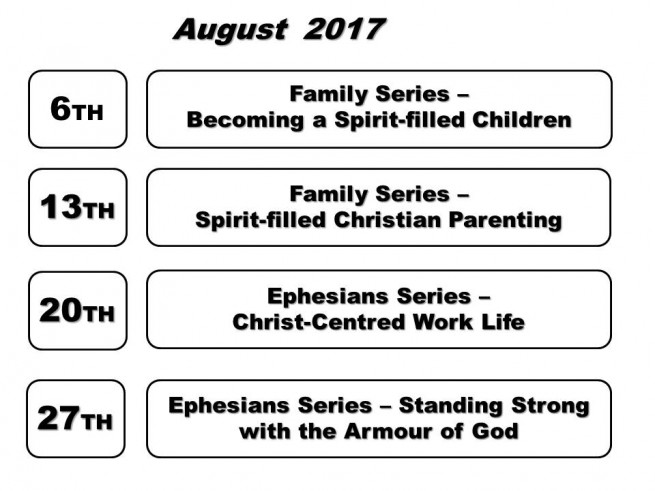 Sermon Topic For August